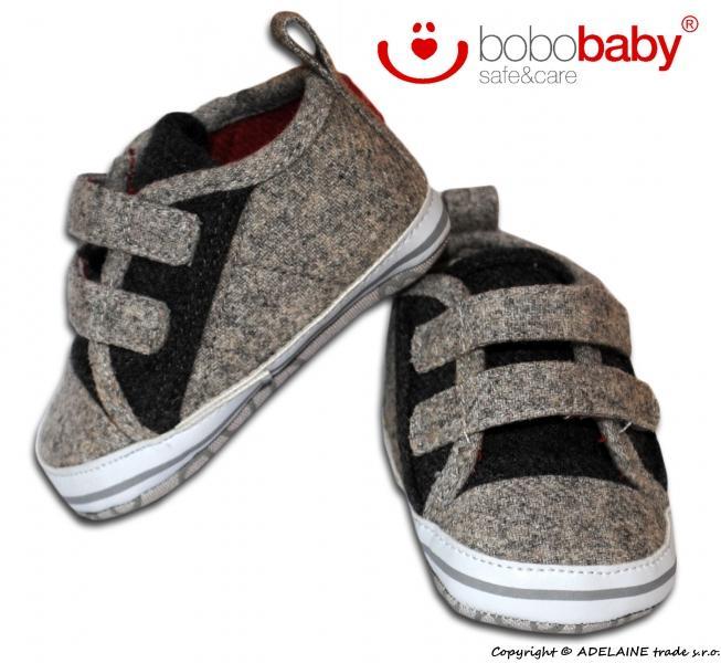 3ee66c6b9f75 Rozkošné topánočky BOBO BABY - melírkovo sivé