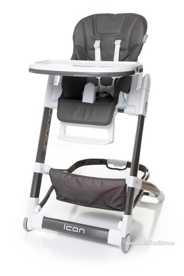 f8aa84190655 Jedálenská stolička Icon Grey