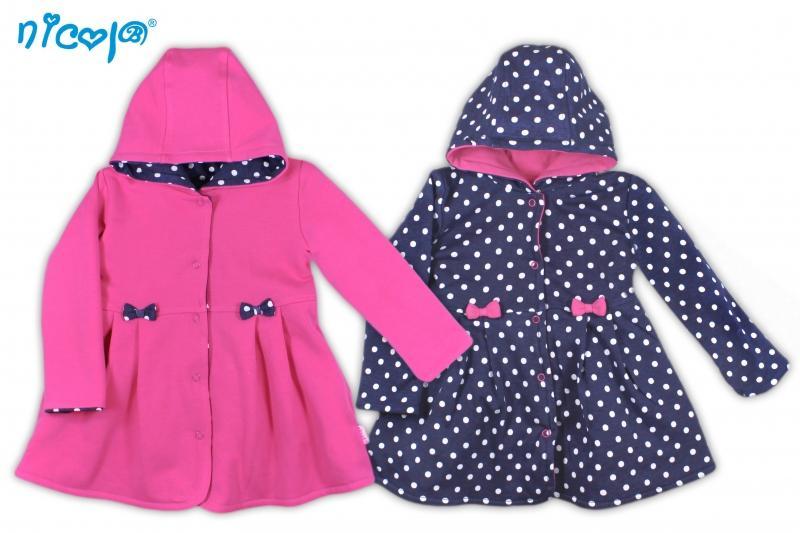 a172987bd8be Obojstranný kabátik Love - malinový   tm. modrý