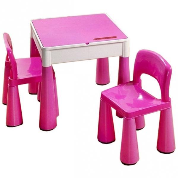 92141f49e011 TEGA Sada nábytku pre deti - stolček a 2 stoličky - ružová