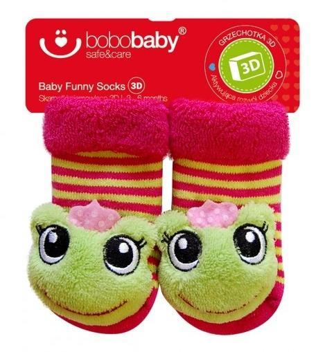 69f1b006a4e Froté ponožky s hrkálkou BOBO BABY Žabička