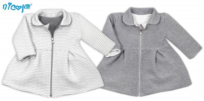 23d6bc822119 Obojstranný kabátik Vážka - sivý   biely