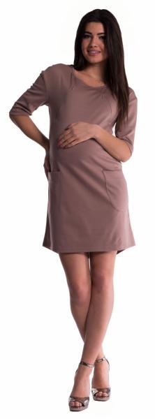 b14cf2b73f5f Tehotenské a dojčiace šaty - béžové