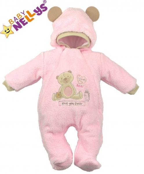 Overal   kombinézka SWEET BEAR - ružový 2f7990a9808