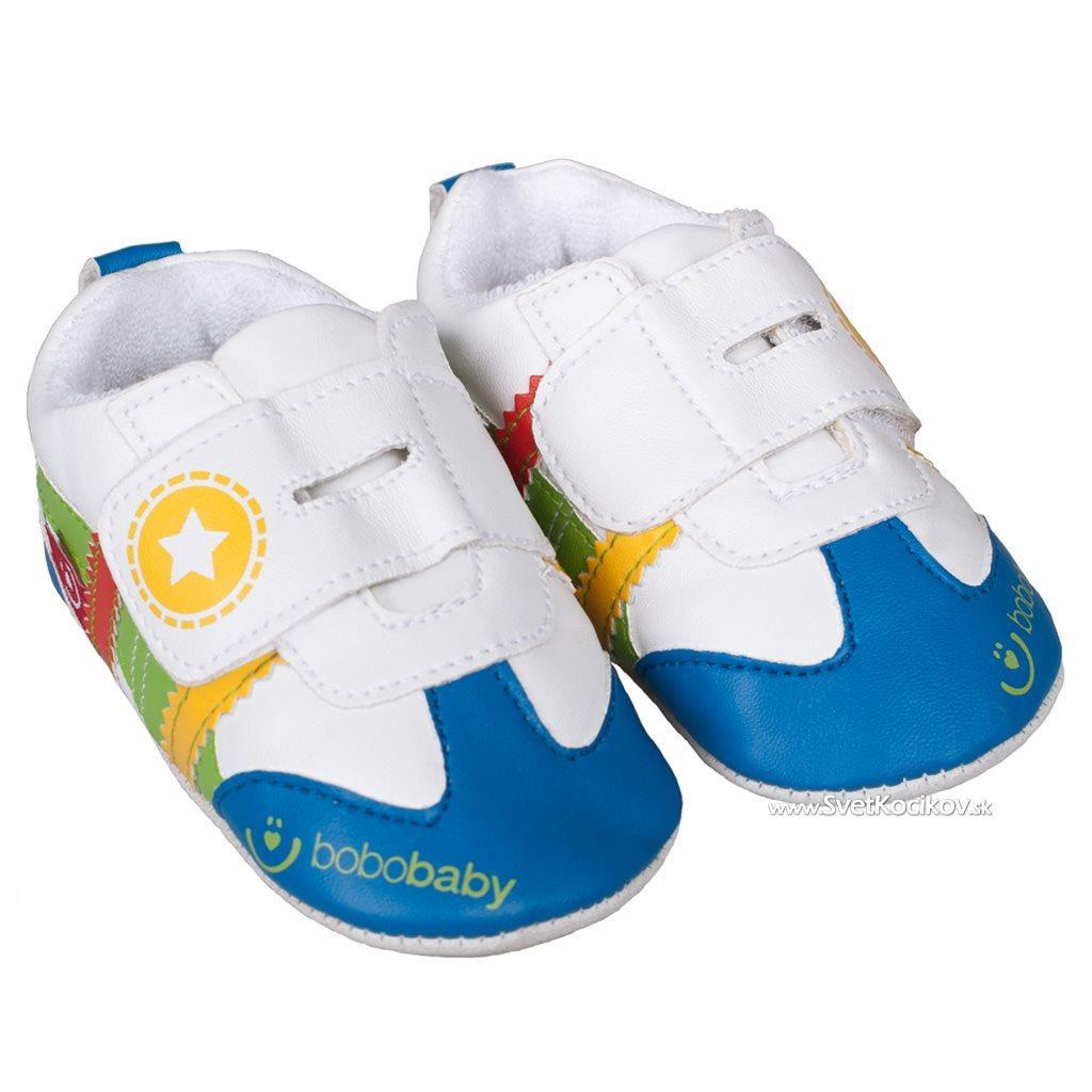 702068a8e Detské capáčky Bobo Baby 6-12m bielo modré Biela 80 (9-12m)