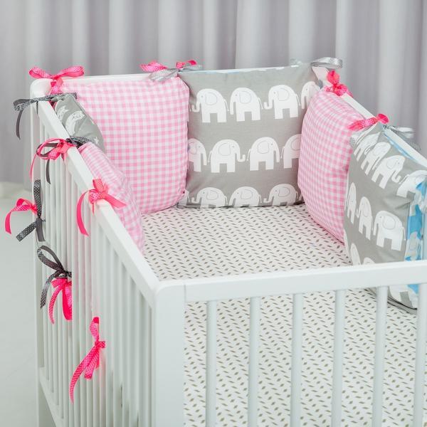 Бампер на кроватку для новорожденных своими руками 4
