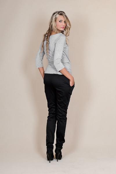 c7df255e26 Tehotenské nohavice s mašľou - Čierne