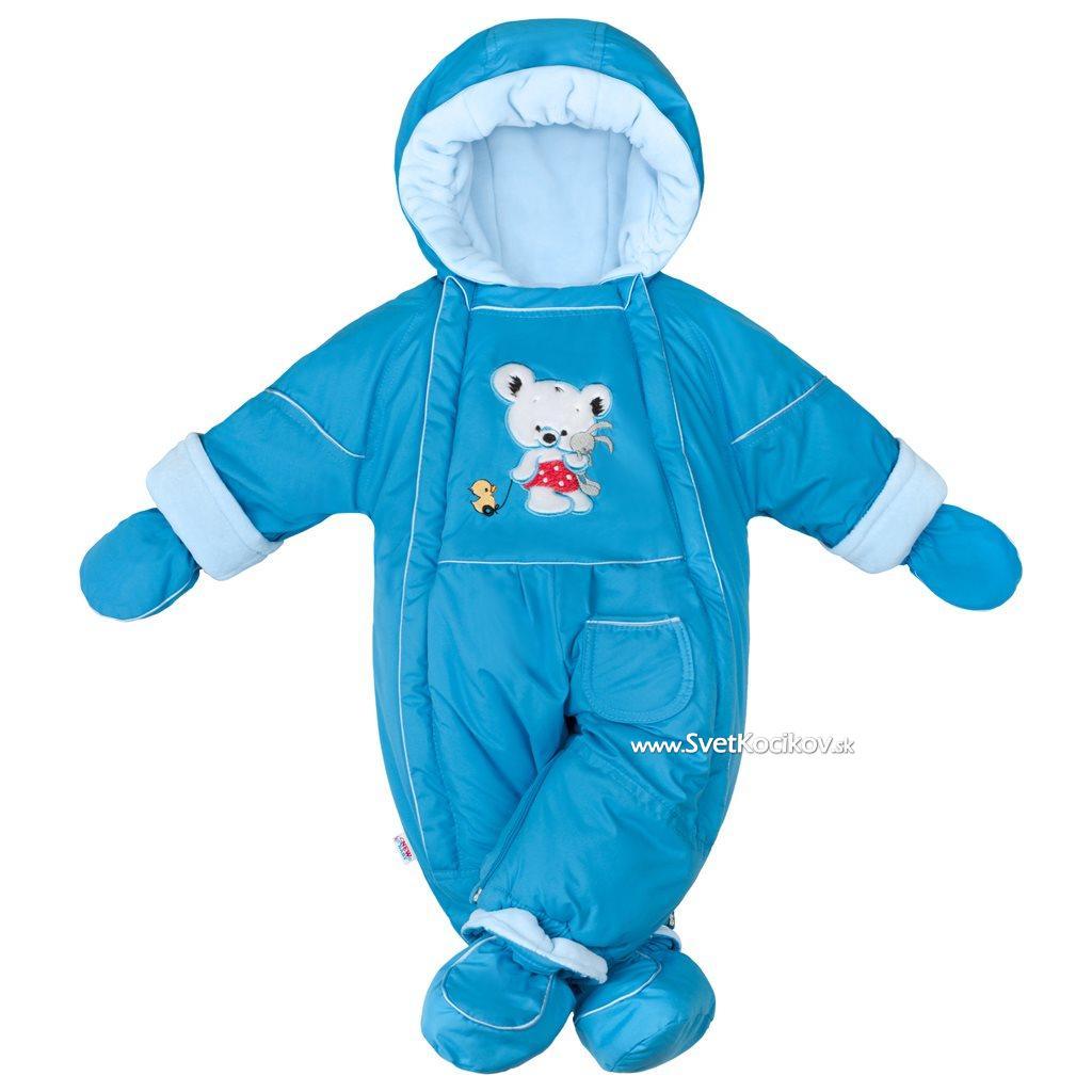 556fe47de Zimná kombinéza 2v1 New Baby Winter modrá Modrá 74 (6-9m)