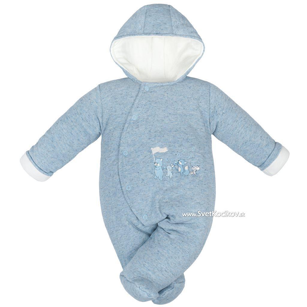 8daf9c79266a Zimná dojčenská kombinéza Baby Service Animals modrá Modrá 56 (0-3m)
