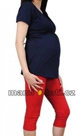 Tehotenské farebné legíny 3 4 dĺžky - červená c89ced538b