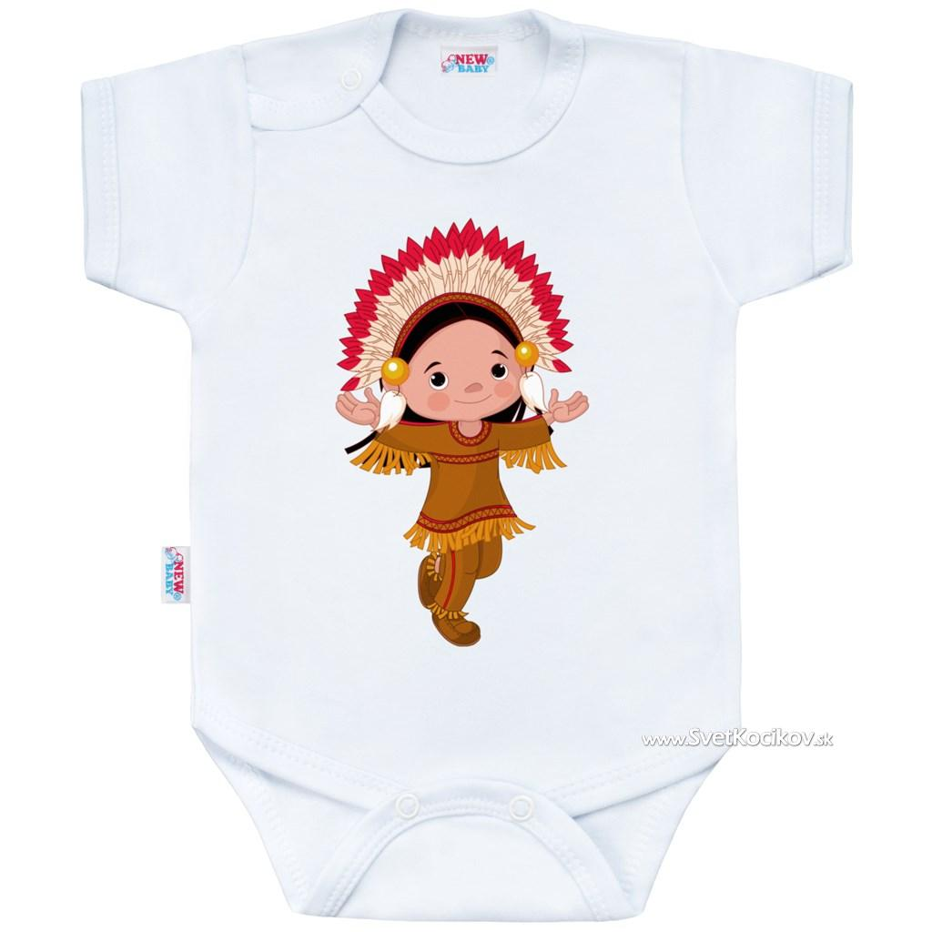 550765177087 Body s potlačou New Baby Indian Boy Biela 62 (3-6m)