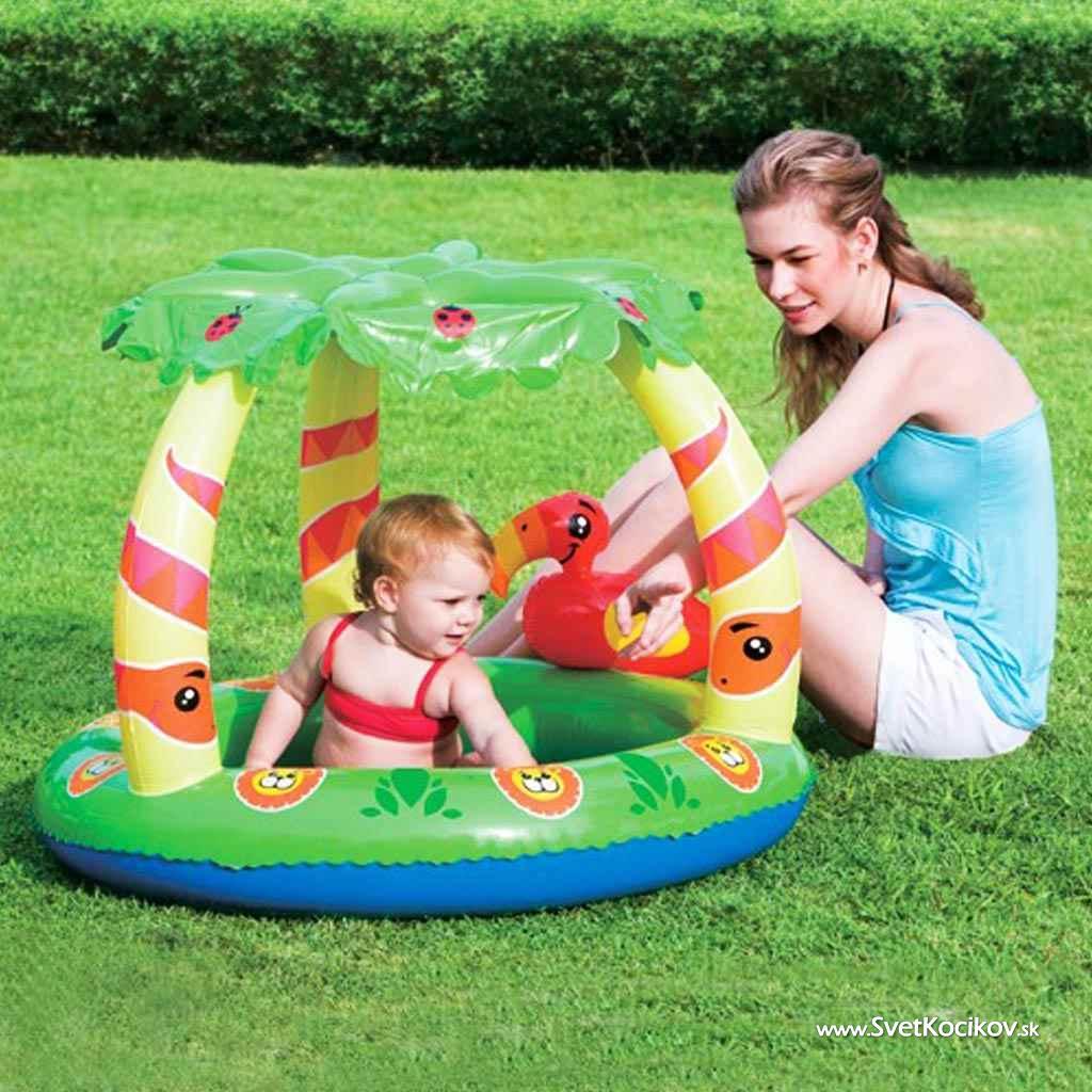 c4d4d670fcd74 Detský nafukovací bazén so strieškou Bestway Jungle
