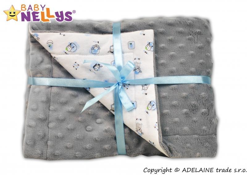 Deka Baby Nellys ® - Minky sivá 2269ac199bf