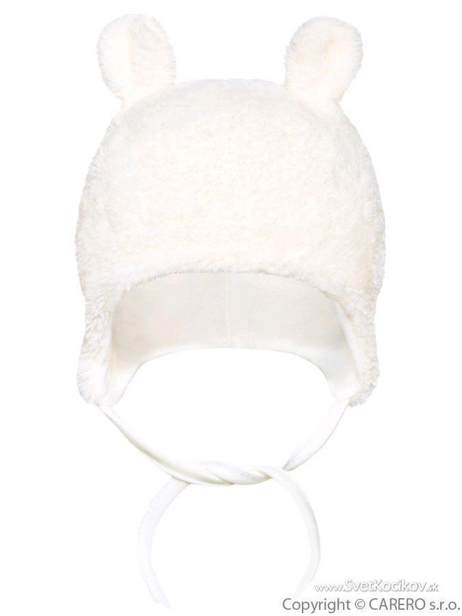 a246a5d4f Zimná fleecová čiapočka Baby Service smotanová Smotanová 68 (4-6m)