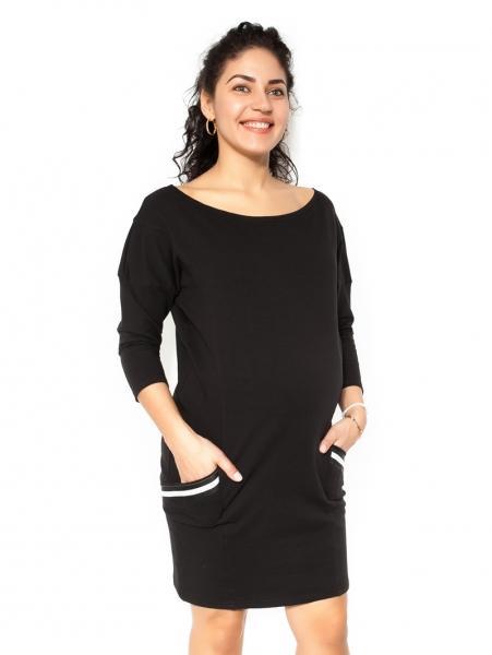 Těhotenská šaty Bibi - čierne - M 6f3b2554ab6