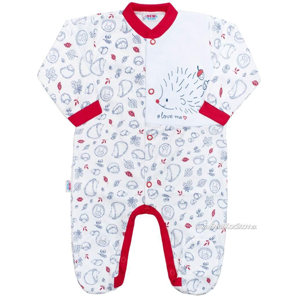 0aa044356410 Dojčenský bavlnený overal New Baby Hedgehog červený Červená 68 (4-6m)