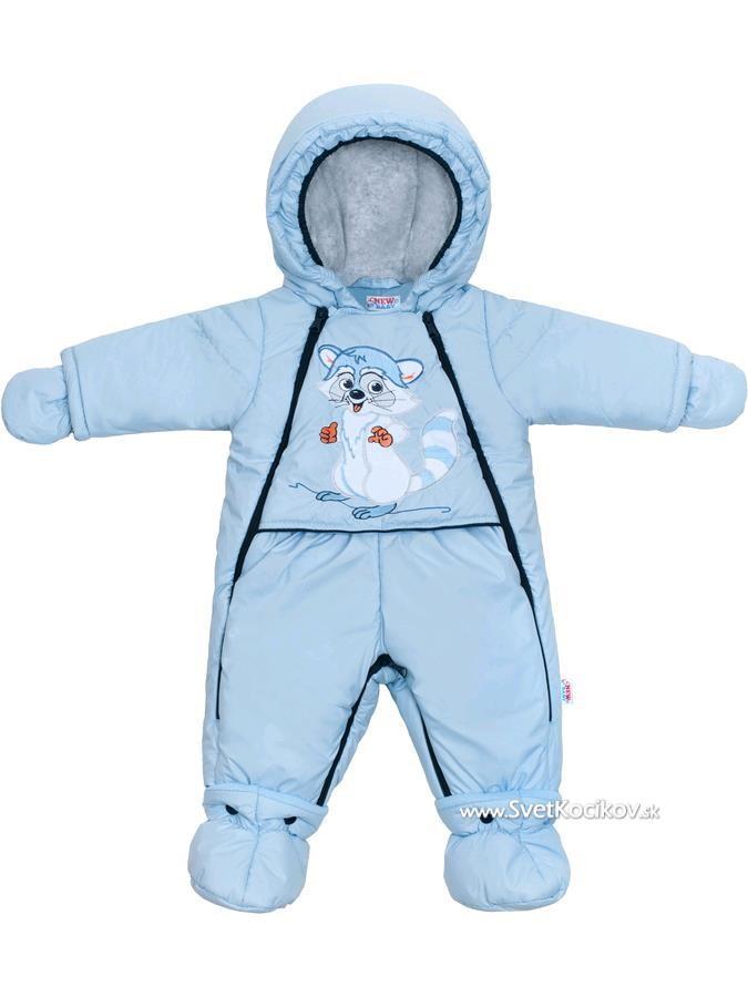 140fa5432 Luxusná zimná kombinéza s podšívkou New Baby Mýval modrá Modrá 68 (4-6m)