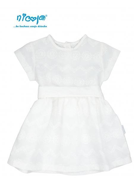 80c6c4fc47e4 Nicol Dojčenské šaty Lady - biele