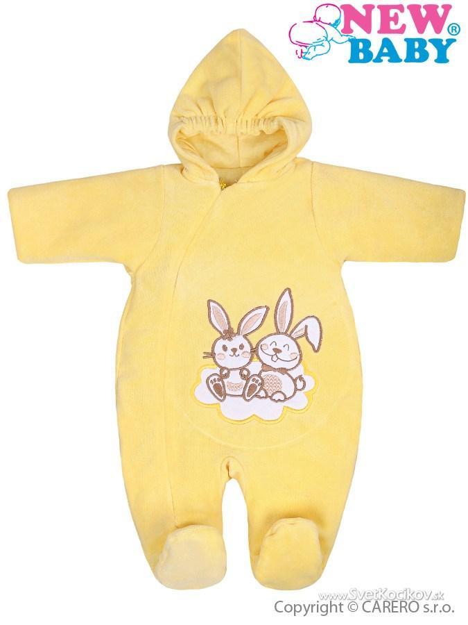 4e8933688 Zimný overal New Baby Bunnies žltý Žltá 62 (3-6m)