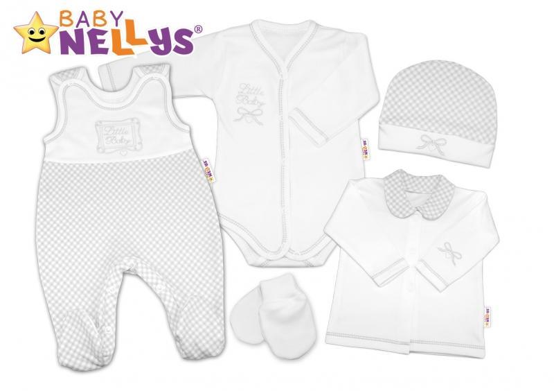 2d285f4e9917 Súprava do pôrodnice Baby Nellys - Little Baby - sivá kostička