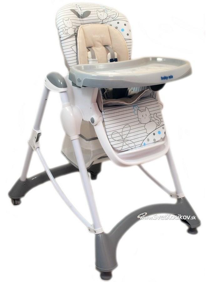 06646158756e Jedálenská stolička Baby Mix light grey