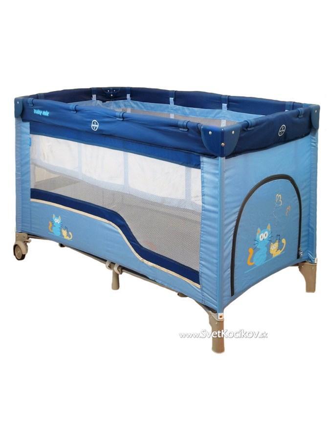 Detská cestovná postieľka Baby Mix blue 8b015193113