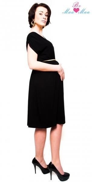 Tehotenské šaty Be Maamaa - Kim - čierne 217cdc95659