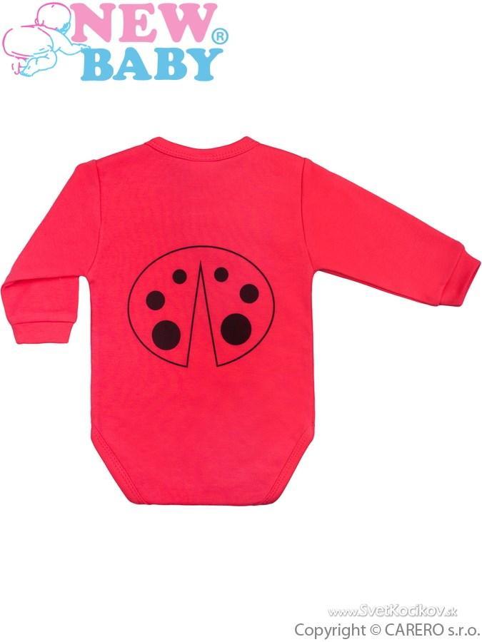 Dojčenské body s dlhým rukávom New Baby Zvieratko Lienka ružové Ružová 68 (4 -6m) 52837ad6f65