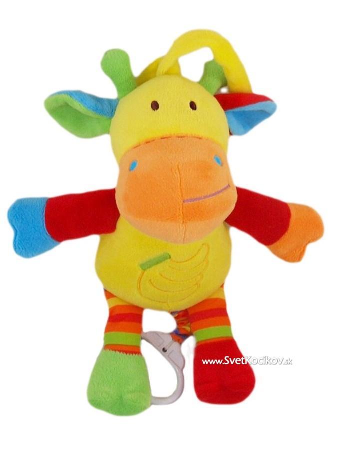 acae18ca28f Plyšová hračka s melódiou Baby Mix žirafka
