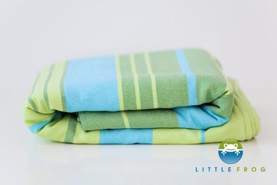 Little FROG Tkaná šatka na nosenie detí s bambusom - Bamboo Turquoise 535d7007f6
