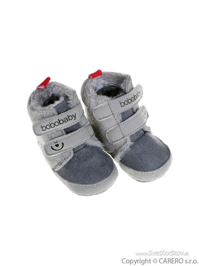 eef628d3f Detské zimné capáčky Bobo Baby 6-12m sivé Sivá 74 (6-9m)