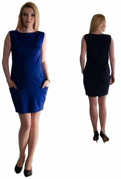 Tehotenské letné šaty s vreckami - čierne 5aa1a279a06