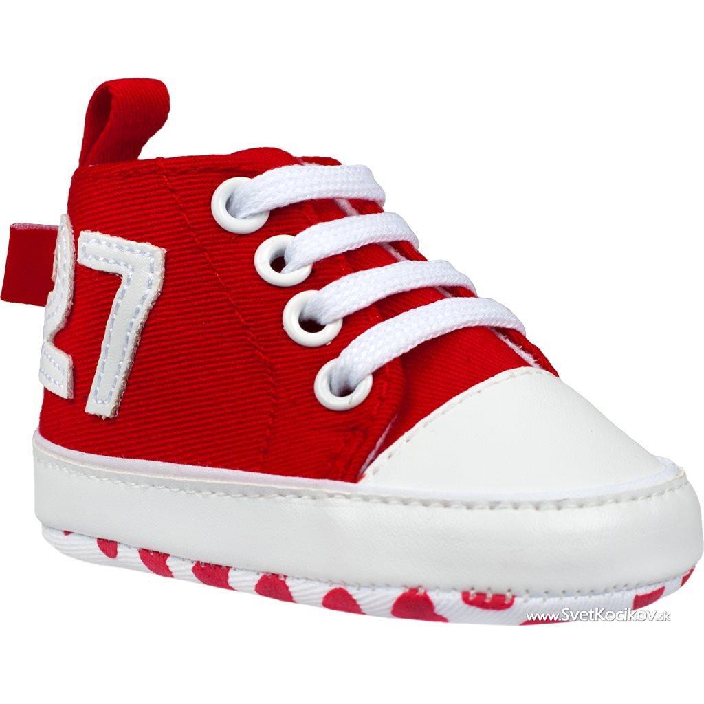586a7fa726815 Detské capáčky Bobo Baby 6-12m 27 červené Červená 80 (9-12m)