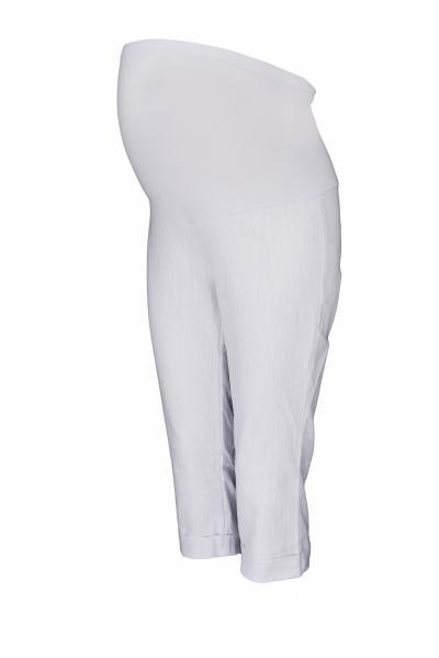 9835cb94cc80 Tehotenské 3 4 nohavice s elastickým pásom - biele