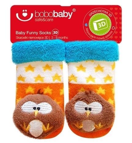 99f370a584a Froté ponožky s hrkálkou BOBO BABY SOVA - Hviezdičky