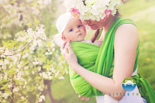 Little FROG Tkaný šatka na nosenie detí - BERYL 991f5edd24