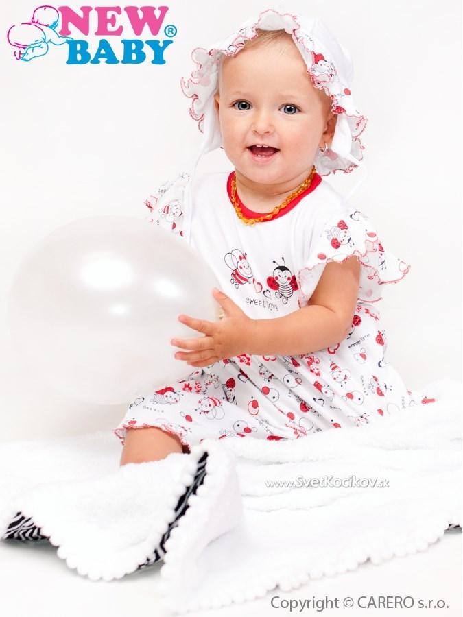 Dojčenské šaty New Baby Lienka Biela 68 (4-6m) 2458db1e62a