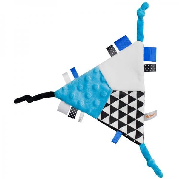 ce86af90160 Mazlík šuštik trojuholník - modrý