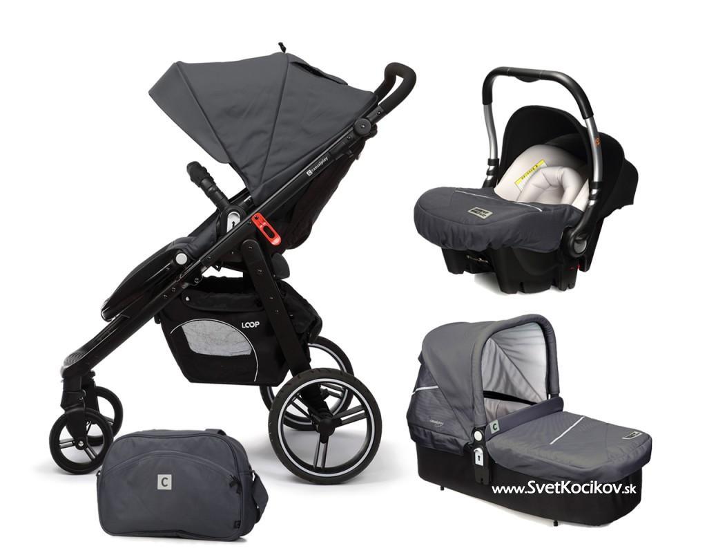 449314bca0963 CASUALPLAY - Set kočík LOOP, autosedačka Baby 0plus, vanička Cot a Bag 2016  - Metal