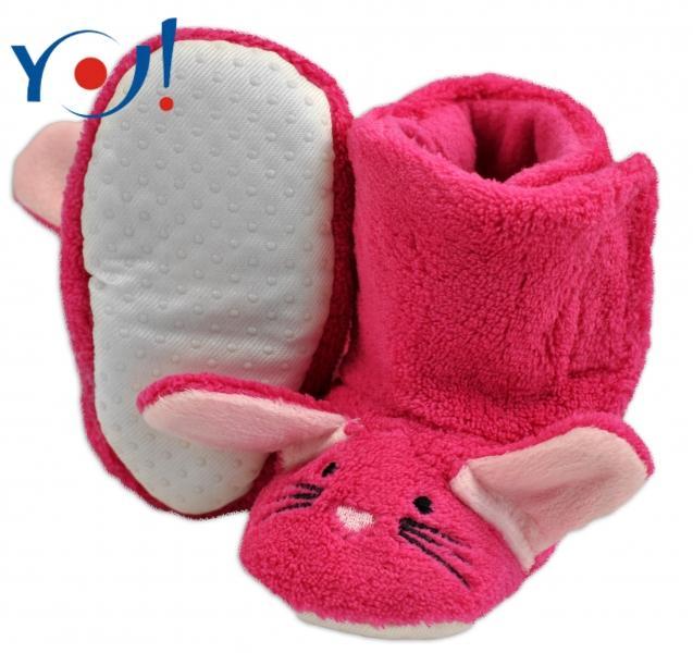 69a6fec8c4 YO ! Zimné topánky Šľapky polár YO! - králiček - malinové