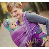 Little FROG Tkaný šatka na nosenie detí - AMETYST db15167dd9