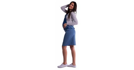 3e97242c3fee Tehotenské šaty   sukne s trakmi - modré