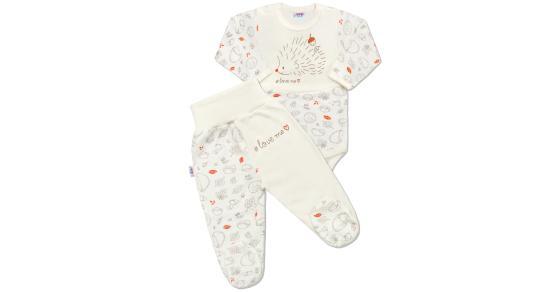3a8ffc0faead Dojčenská bavlnená súprava New Baby Hedgehog béžová Béžová 68 (4-6m)