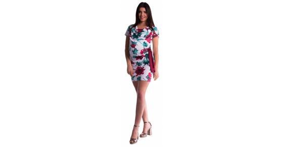 cc8598e799d2 Tehotenské a dojčiace šaty s kvetinovou potlačou