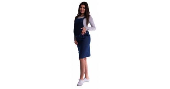 66e668a6061d Be MaaMaa Tehotenské šaty   sukne s trakmi - tm. modré