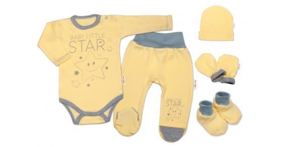 6628205c9 Baby Nellys Súpravička do pôrodnice Baby Little Star - žltá, veľ. 68, K19,  68 (4-6m)
