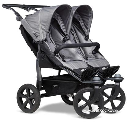 TFK Duo stroller - air chamber wheel grey