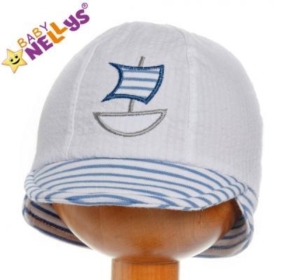 1b1fd253e6e7 Jarná   letná čiapočka so šiltom Lodička - sv. modrý prúžok