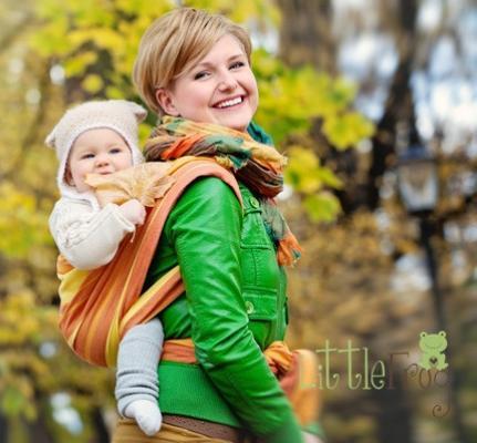 Little FROG Tkaný šatka na nosenie detí - Jaspis be775590cc